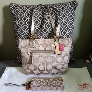 Coach Monogram Bag + Wrislet Wallet